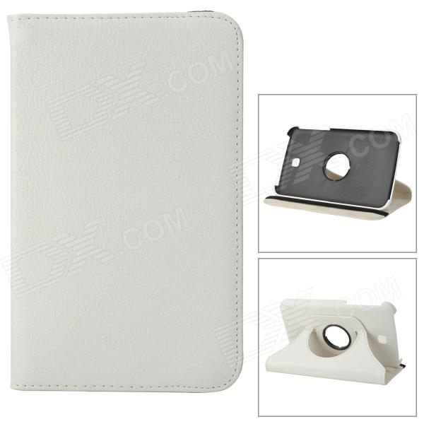 Protective 360 Degree Rotation PU Leather Case for Samsung Galaxy Tab 3 P3200 - White protective 360 degree rotation pu leather case for samsung p6220 brown
