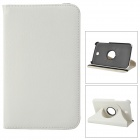 Protective 360 Degree Rotation PU Leather Case for Samsung Galaxy Tab 3 P3200 - White