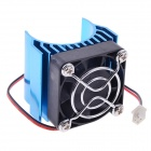 N10022 Aluminum Alloy Motor Heatsink w/ Fan for RC 540 / 550 Motor - Blue