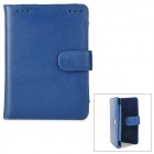 Stylish Protective Cow Leather Case for Kindle Touch - Blue