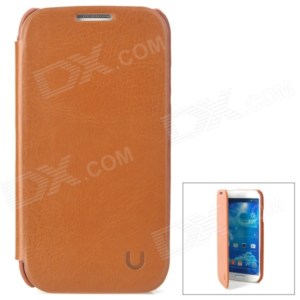 USAMS S4BL03 Protective PU Leather + PC Case for Samsung Galaxy S4 i9500 - Brown cm001 3d skeleton pattern protective plastic back case for samsung galaxy s4
