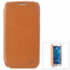 USAMS S4BL03 Protective PU Leather + PC Case for Samsung Galaxy S4 i9500 - Brown