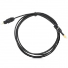 Umark 6586 SPDIF Square to Round Connecting Fiber Optic Cable for CD / DVD Player + More - Black
