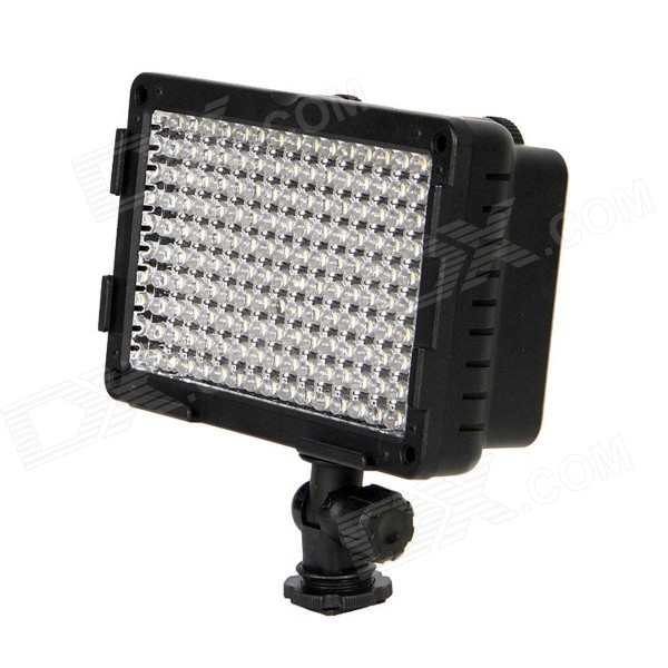 CN-160CA 9.6W 5400K 160-LED Video Lighting Lamp for Camera DV Camcorder - Black neewer cn 304 304pcs led dimmable ultra high power panel digital camera camcorder video light led light for canon nikon pentax