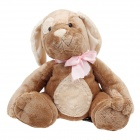Cute Bowknot Cartoon Dog Style Soft Plush Doll Toy - Brown + Beige + Pink