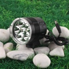 NITEFIRE NFC-60 6 x Cree XM-L T6 3500lm 5-Mode Cool White Bicycle Light - Black (4 x 18650)