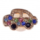 Stylish Car Style Rhinestone Home Button Sticker for Iphone 4S / 5 / Ipad - Multicolored