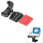 M-JC Adhesive Mount w/ J-Shape Plug + 3M Sticker for GoPro - Black+Red