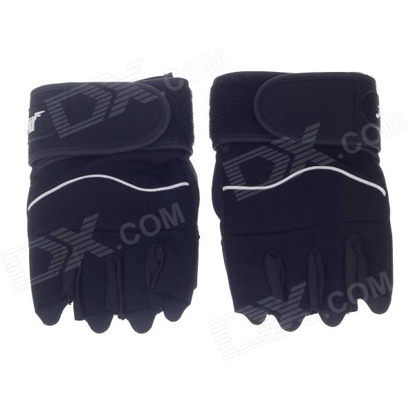 Xinluming XLY209 Professional Anti-Skid Fitness Half-Finger Gym Gloves -Black (Size-M / Pair)