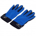 Non-Slip Breathable Full-Finger Gloves - Black + Blue (Size-M / Pair)