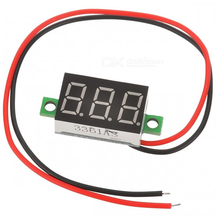 "V20D-T1 0.36"" LED 3-Digital Voltmeter (DC 3.2~30V)"