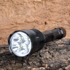 J28-6 4 x Cree XM-L U2 3000lm 5-Mode White Light Flashlight - Black (2 x 18650)