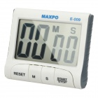 "E-009 Kitchen Hanging / Desktop 2.9"" LCD Digital Countdown Timer - White + Grey (1 x AAA)"