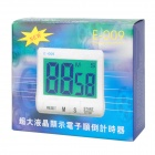 "E-009 Kitchen 2.9"" LCD Digital Countdown Timer - White + Grey (1*AAA)"