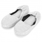 Washable Cotton + EVA Flat Folding Shoes for Yoga Lover / Pregnant Women - Grey (Pair)