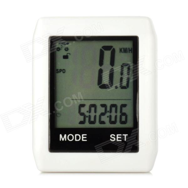BIKEVEE BKV-6000 Multifunctional Mini 1.7 LCD Wireless Stopwatch for Cycling - White (1 x CR2032) bikevee bkv 6000 2 2 display screen bike computer silver 1 x cr2032