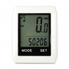 "BIKEVEE BKV-6000 Multifunctional Mini 1.7"" LCD Wireless Stopwatch for Cycling - White (1 x CR2032)"