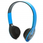 Stereo Bluetooth V2.1+ EDR Headset w/ TF Slot / FM Radio / Mic - Blue + Black