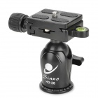 SINNO HD-28 Aluminum Alloy 28mm Ball Head w/ Scale Quick Release Plate - Black