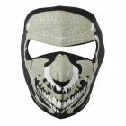 Cool Pattern CS Game Neoprene Facial Mask - Black + White
