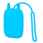 Cute Rabbit Ears Soft Silicone Key Bag - Blue