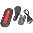 Vehicle-mounted Bluetooth V3.0 + EDR Handsfree Kit  - Black + Red