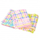 Plaid Pattern Cotton Bathing Kid's Towels - Multicolored (3 PCS)