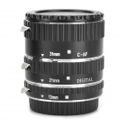 HUANOR HN-668C Auto Macro Extension Tube Set for Canon DSLR - Black
