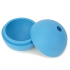 GEL051024 Ball Shaped Silicone Mold w/ Cover for Whiskey - Blue