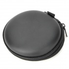 Water Resistant PU + EVA Storage Bag for Earphones / Ear Hook Headset - Black