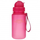 UZSPACE High-Quality-Leak Proof Polierte Bunte Flasche w / Stroh - Deep Pink (350 ml)