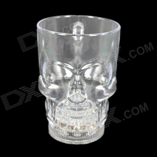 Cool Shining Discoloring Skull Cup - Transparent (400mL / 2 x CR2025)