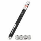 BGP-3010-1 Portable 5mW Green Light Laser Pointer - Black + Silver