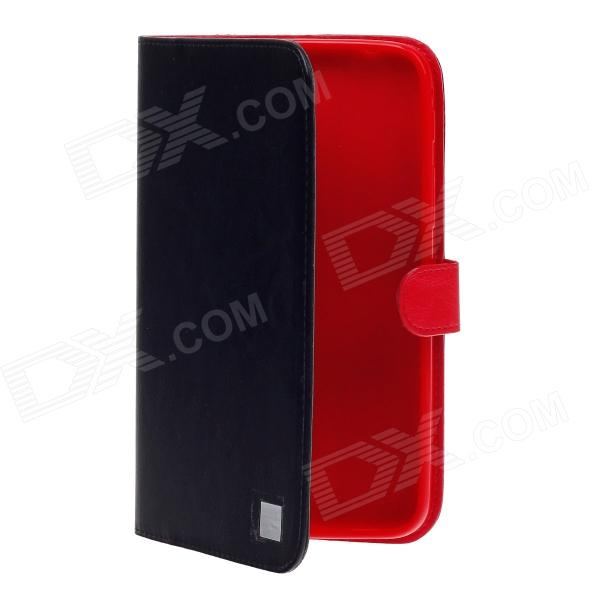 Stylish PU Leather Stand Cover Case for Samsung P3200 - Black + Red