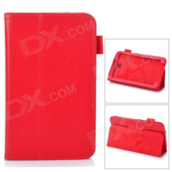 Stylish Protective PU Leather Case Cover Stand for 7.0 Samsung Galaxy Tab 3 P3200 - Red смартфон sony xperia x белый f5121ru w