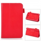 "Stylish Protective PU Leather Case Cover Stand for 7.0"" Samsung Galaxy Tab 3 P3200 - Red"