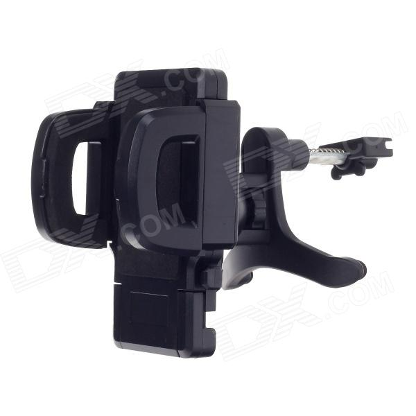 Universal 360 Degree Rotation Air Outlet Automatic Car Holder Bracket for Smartphone - Black universal 360 degree rotatable car air vent holder for cell phone black