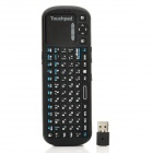 2.4GHz Wireless 84-Key Qwerty Russian Keyboard Remote Controller for Smart TV / Mini PC - Black