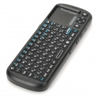 2.4GHz QWERTY teclado ruso mando a distancia 84-Key inalambrico para Smart TV / Mini PC - Negro