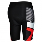 Mountainpeak Men's Stylish Sporty Jersey + Short Pants Cycling Outfit - Black + White + Red (XXL)