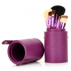 Fashion 7-in-1 Cosmetic Makeup Brushes Set - Purple