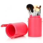 Fashion 7-in-1 Cosmetic Makeup Brushes Set - Pink