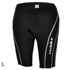 Veobike V-Jazz Outdoor Cycling Men's Breathable Polyester Short Pants - Black (Size L)