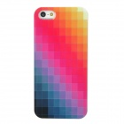 Protective Multicolor Checked Pattern Plastic Back Case for Iphone 5