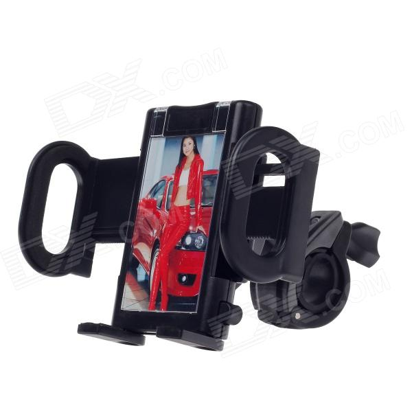 M05 Universal Motorcycle 4-ports Holder for Cell Phone / GPS / MP3 / MP4- Black bike phone mount bicycle holder for mobile phone pda gps mp4 black