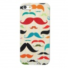 Protective Multicolor Mustache Pattern Plastic Back Case for Iphone 5