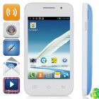 "Mini 7100 Android 2.3.5 GSM Bar Phone w/ 3.5"" Capacitive Screen, Dual-Band and Wi-Fi - White + Blue"