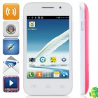 "Mini 7100 Android 2.3.5 GSM Bar Phone w/ 3.5"" Capacitive Screen, Dual-Band and Wi-Fi - White + Red"