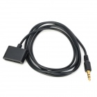 3.5mm Male to iPhone 30pin Female Audio Adapter Cable - Black (100cm)