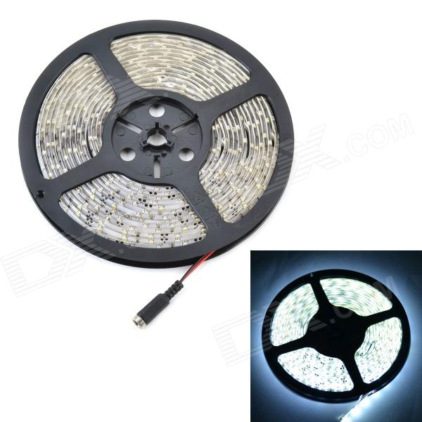 Waterproof 12.6W 1200lm 6000K 300-SMD 3528 Cold White Strip + Remote